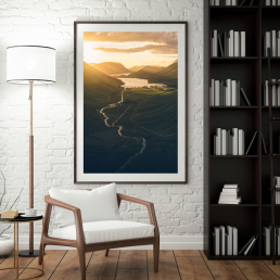 Cliffside Sunset | Lake District Photography pRint |calum lewis photography
