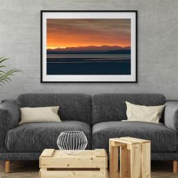 Last Light   Morecambe Bay Sunset Print   CAlum Lewis Photography